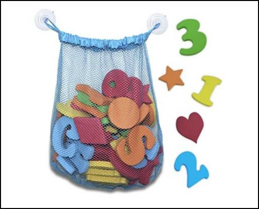 Foam alphabet for baby's bath