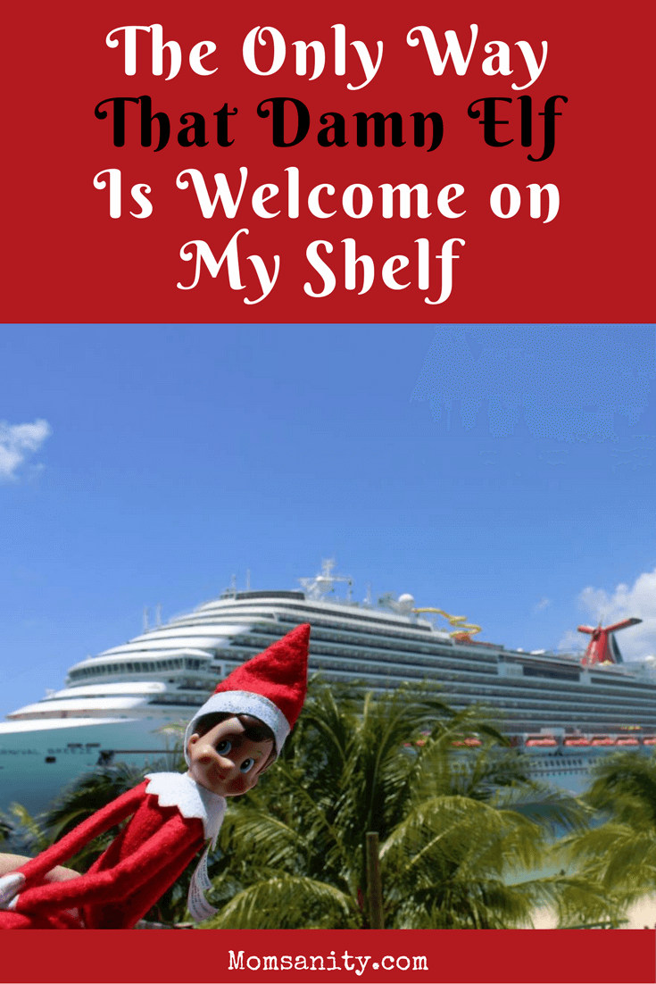 Elf on a Shelf on a yacht