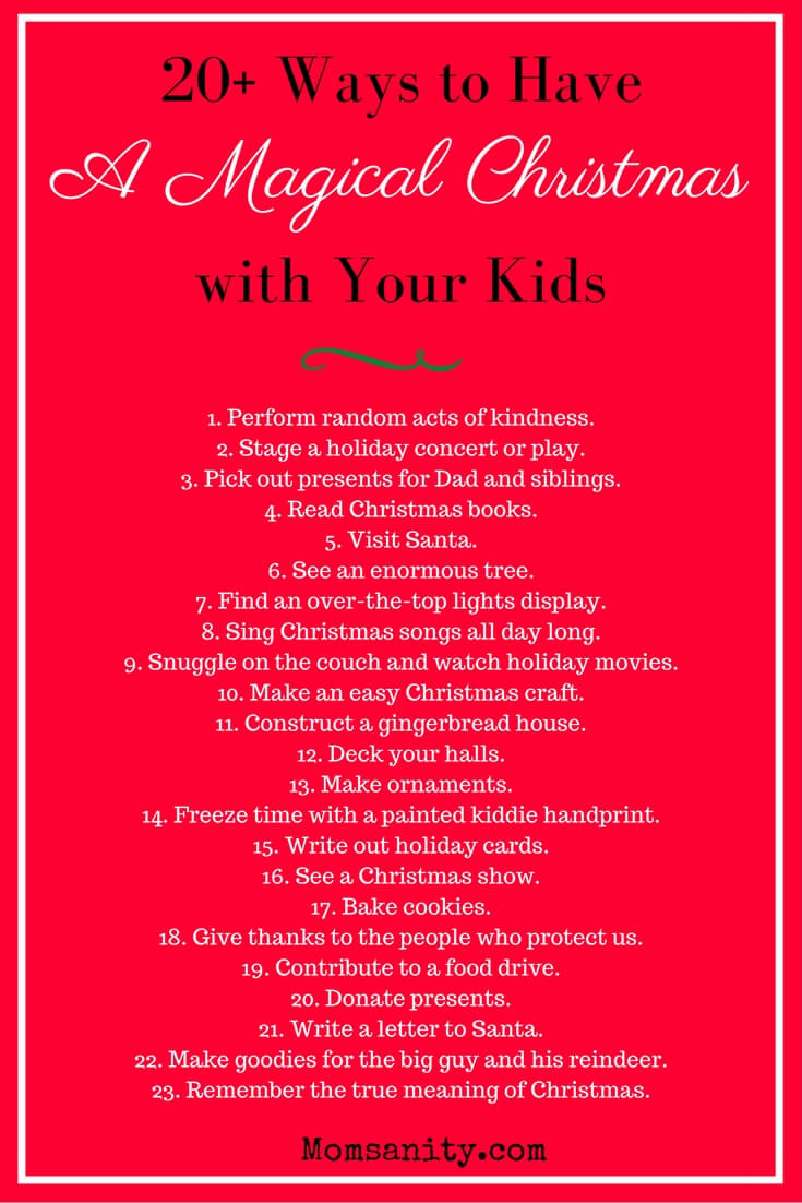 Ultimate Christmas guide for kids