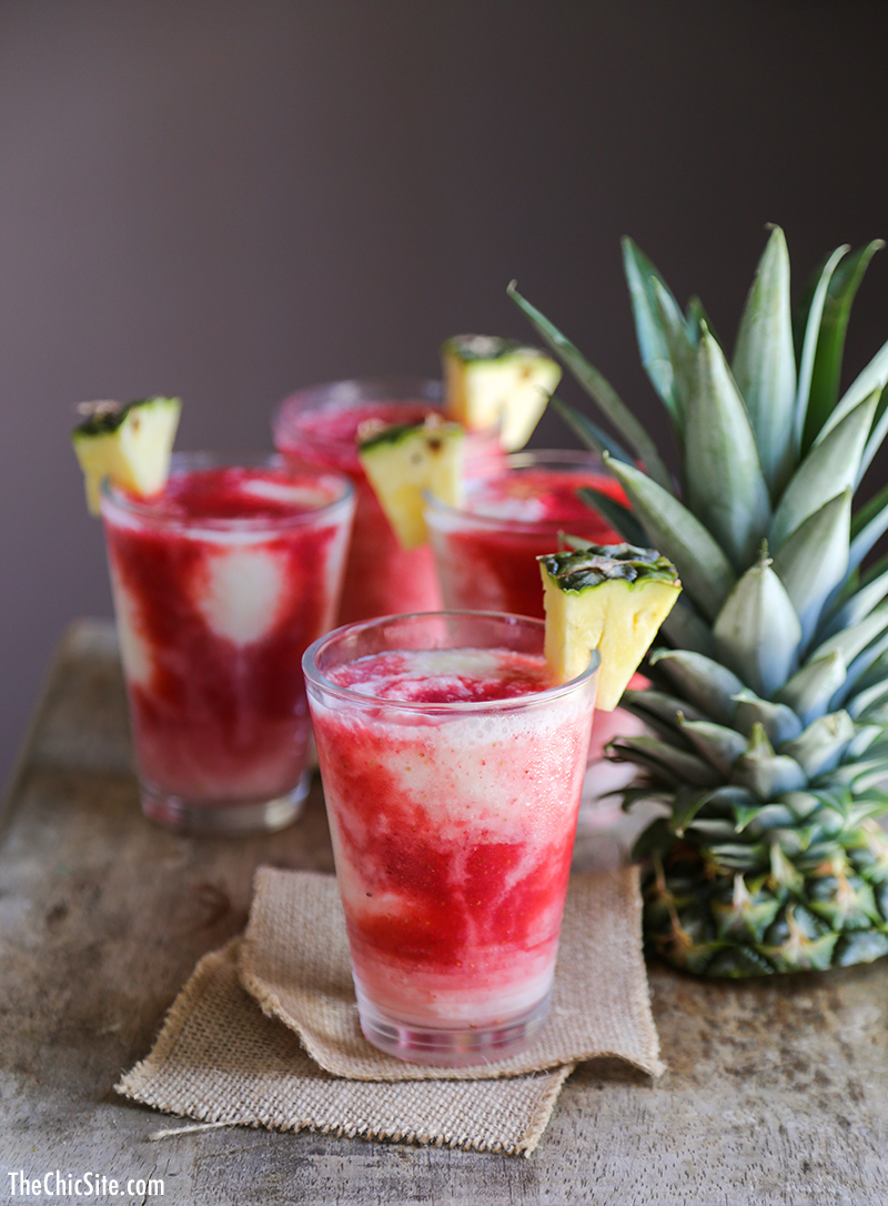 Staycation cocktails for moms - Lava Flow