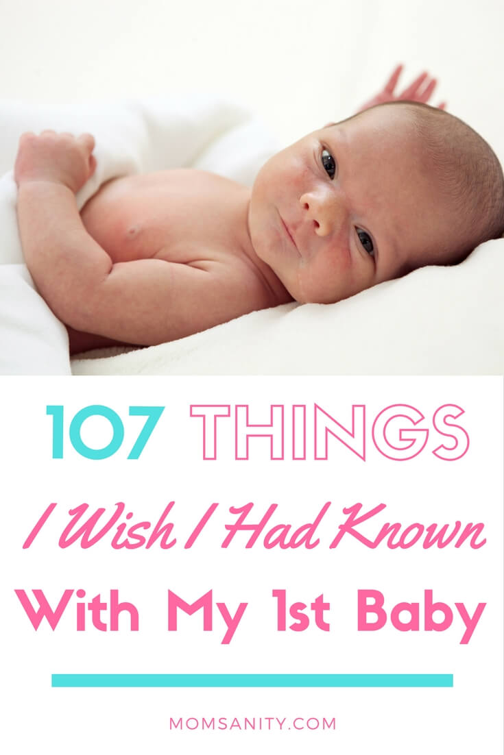 107 Things I Wish I'd Known with My First Baby - Momsanity announcement
