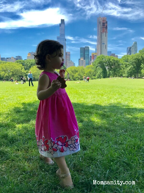 Toddler girl in Central Park - Momsanity