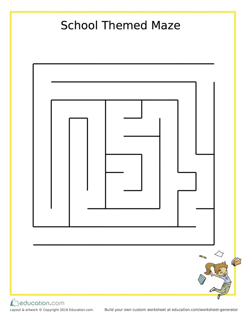 image relating to Printable Mazes for Kindergartners titled Mazes: Useful Entertaining for Falland Just about every Other Period