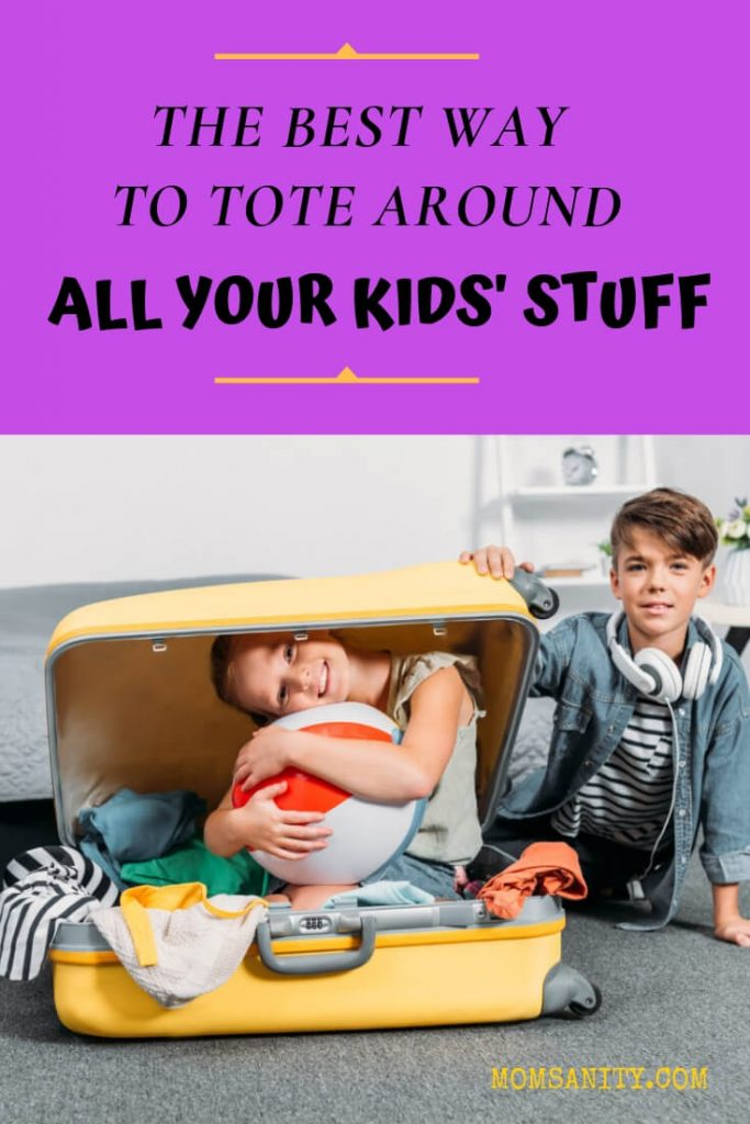 How to tote around all your kids' stuff - Momsanity